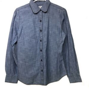 LL Bean chambray blue button up size 10 EUC